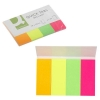 Q-Connect KF01226 Quick Tabs 20 x 50mm Neon Pack of 200