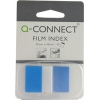 Q-Connect KF03632 1-inch blue page markers, pack of 50