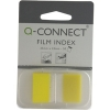 Q-Connect KF03634 1-inch yellow page markers, pack of 50