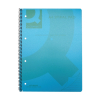 Q-Connect KF10037 A4 Spiral Bound Polypropylene Notebook, 5-pack, 160 Pages