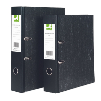 Q-Connect KF20001 A4 black cardboard lever arch file 10-pack KF20001 235041