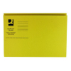 Q-Connect Square Cut Folder Medium Weight 250gsm Foolscap Yellow (Pk 100) KF01185