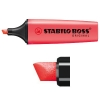 Stabilo Boss fluorescent red highlighter 70/40
